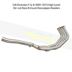 YAMAHA 야마하 XJ6 Diversion F & N (09-15) High Level De-cat Race Exhaust Downpipes Headers 메니폴더 머플러 중통