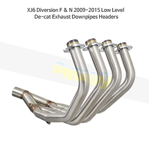 YAMAHA 야마하 XJ6 Diversion F & N (09-15) Low Level De-cat Exhaust Downpipes Headers 메니폴더 머플러 중통