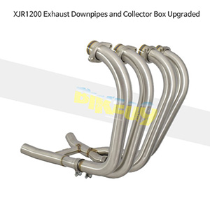 YAMAHA 야마하 XJR1200 Exhaust Downpipes and Collector Box Upgraded 메니폴더 머플러 중통