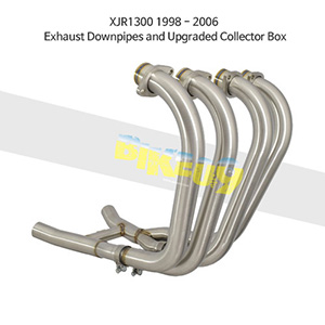 YAMAHA 야마하 XJR1300 (98-06) Exhaust Downpipes and Upgraded Collector Box 메니폴더 머플러 중통