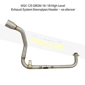HONDA 혼다 MSX125 GROM (16-18) High Level Exhaust System Downpipes Header-no silencer 메니폴더 머플러 중통