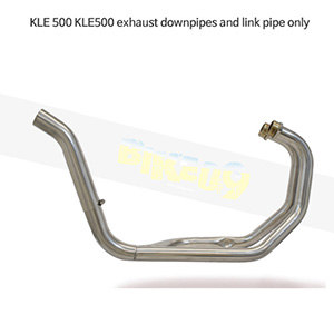 KAWASAKI 가와사키 KLE500 exhaust downpipes and link pipe only 메니폴더 머플러 중통