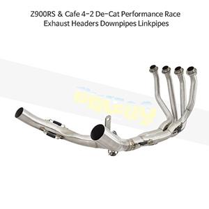 KAWASAKI 가와사키 Z900RS & Cafe 4-2 De-Cat Performance Race Exhaust Headers Downpipes Linkpipes 메니폴더 머플러 중통