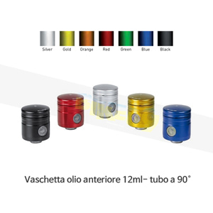 보나미치 레이싱 Vaschetta olio anteriore 12ml- tubo a 90° (BLACK/BLUE/GREEN/GOLD/ORANGE/RED/SILVER) 브레이크 리저브 오일 탱크 0012/90
