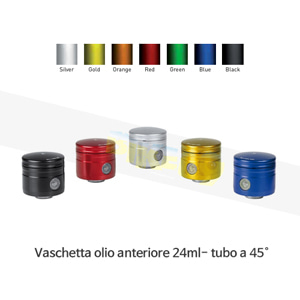 보나미치 레이싱 Vaschetta olio anteriore 24ml- tubo a 45° (BLACK/BLUE/GREEN/GOLD/ORANGE/RED/SILVER) 브레이크 리저브 오일 탱크 0024/45