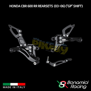 """보나미치 HONDA 혼다 CBR600RR Rearsets (03-06)(""""GP"""" Shift) 튜닝 부품 파츠"""