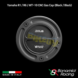 보나미치 YAMAHA 야마하 R1 / R6 / MT10 CNC Gas Cap (Black / Black) 튜닝 부품 파츠