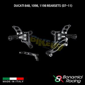보나미치 DUCATI 두카티 848, 1098, 1198 Rearsets (07-11) 튜닝 부품 파츠
