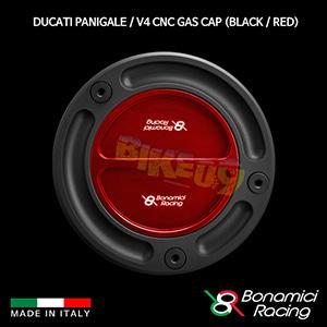 보나미치 DUCATI 두카티 파니갈래 / V4 CNC Gas Cap (Black / Red) 튜닝 부품 파츠