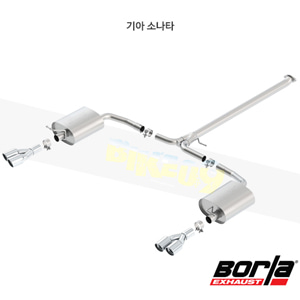 기아 소나타 캣백 Exhaust 시스템 S-타입 (11-15)- 볼라 어택 배기 머플러 Part #140464