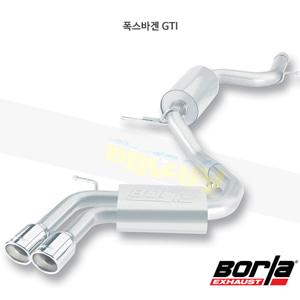폭스바겐 GTI 캣백 Exhaust 시스템 S-타입 (06-09)- 볼라 어택 배기 머플러 Part #140248