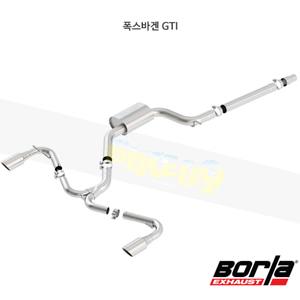 폭스바겐 GTI 캣백 Exhaust 시스템 S-타입 (15-17)- 볼라 어택 배기 머플러 Part #140750