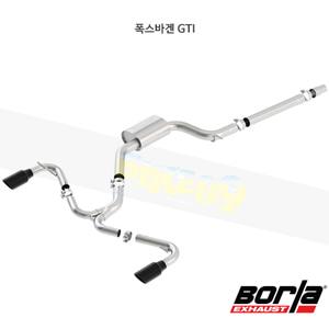 폭스바겐 GTI 캣백 Exhaust 시스템 S-타입 (15-17)- 볼라 어택 배기 머플러 Part #140750BC