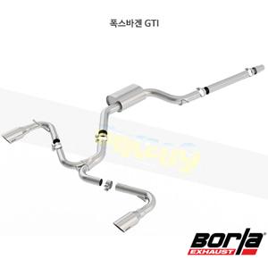 폭스바겐 GTI 캣백 Exhaust 시스템 S-타입 (15-17)- 볼라 어택 배기 머플러 Part #140750SB
