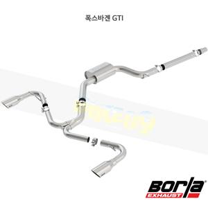 폭스바겐 GTI 캣백 Exhaust 시스템 S-타입 (18-20)- 볼라 어택 배기 머플러 Part #140751SB