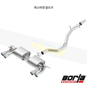 폭스바겐 골프 R 캣백 Exhaust 시스템 S-타입 (15-17)- 볼라 어택 배기 머플러 Part #140643
