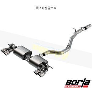 폭스바겐 골프 R 캣백 Exhaust 시스템 S-타입 (18-19)- 볼라 어택 배기 머플러 Part #140830SB