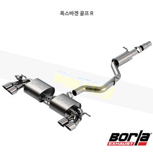폭스바겐 골프 R 캣백 Exhaust 시스템 S-타입 (18-19)- 볼라 어택 배기 머플러 Part #140831SB