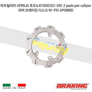 아프릴리아 APRILIA 투오노R1000(02-09) 2 pads per caliper 리어 브레이킹 디스크 W-FIX AP08RID