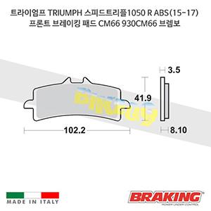 트라이엄프 TRIUMPH 스피드트리플1050 R ABS(15-17) 프론트 브레이킹 패드 CM66 930CM66 브렘보