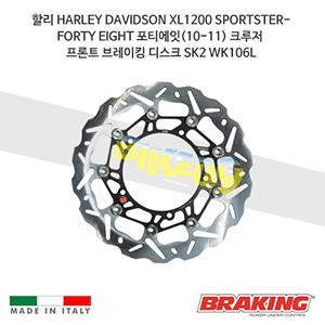 할리 HARLEY DAVIDSON XL1200 SPORTSTER-FORTY EIGHT 포티에잇(10-11) 크루저 프론트 브레이킹 브레이크 디스크 로터 SK2 WK106L