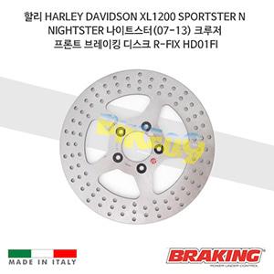 할리 HARLEY DAVIDSON XL1200 SPORTSTER N NIGHTSTER 나이트스터(07-13) 크루저 프론트 브레이킹 브레이크 디스크 로터 R-FIX HD01FI