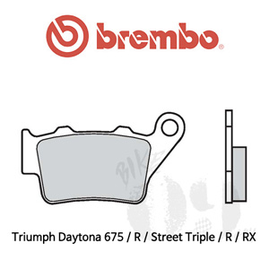 Triumph Daytona 675 / R / Street Triple / R / RX / 리어용 오토바이 브레이크 패드 브렘보 로드