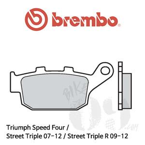 Triumph Speed Four / Street Triple 07-12 / Street Triple R 09-12 / 브레이크 패드 브렘보 신터드