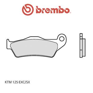 KTM 125EXC/SX 신터드 오토바이 브레이크패드 브렘보