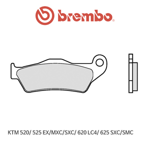 KTM 520/ 525EX/MXC/SXC/ 620LC4/ 625SXC/SMC 신터드 오토바이 브레이크패드 브렘보
