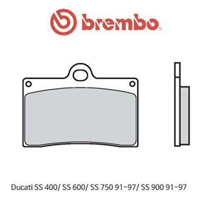 두카티 SS400/ SS600/ SS750 (91-97)/ SS900 (91-97) 캘리퍼 오토바이 브레이크패드 브렘보
