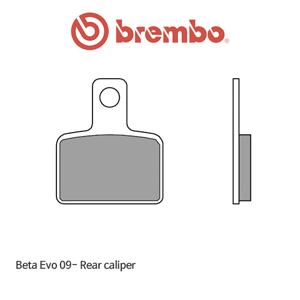 베타 Evo (09-) 리어 캘리퍼 오토바이 브레이크패드 브렘보