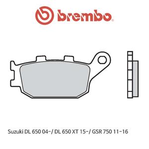 스즈키 DL650 (04-)/ DL650XT (15-)/ GSR750 (11-16) 신터드 스트리트 리어용 오토바이 브레이크패드 브렘보