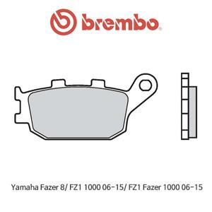 야마하 페이저8/ FZ1 1000 (06-15)/ FZ1페이저1000 (06-15) 신터드 스트리트 리어용 오토바이 브레이크패드 브렘보