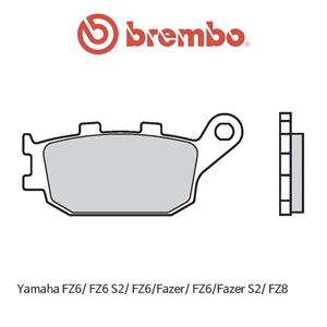 야마하 FZ6/ FZ6 S2/ FZ6/페이저/ FZ6/페이저S2/ FZ8 신터드 스트리트 리어용 오토바이 브레이크패드 브렘보