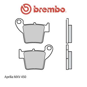 아프릴리아 MXV450 리어용 MX/SM 오토바이 브레이크패드 브렘보