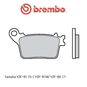 야마하 YZF-R1 (15-)/ YZF-R1M/ YZF-R6 (17-) 신터드 스트리트 리어용 오토바이 브레이크패드 브렘보