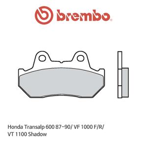 혼다 트랜스엘프600 (87-90)/ VF1000F/R/ VT1100쉐도우 신터드 스트리트 오토바이 브레이크패드 브렘보