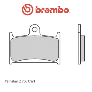 야마하 FZ750 OW1 신터드 레이싱 오토바이 브레이크패드 브렘보