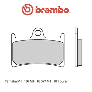 야마하 MT-10/ MT-10SP/ MT-10투어러 신터드 레이싱 오토바이 브레이크패드 브렘보