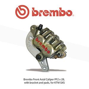 브렘보 Front 엑시얼 캘리퍼 PF2 x 28, KTM SXS 용, 브라켓&패드 포함