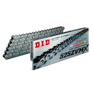 DID 525 ZVMX 스틸 & 스틸 체인, 120 링크, 525 사이즈 - 오토바이 금장 체인 401583120SS