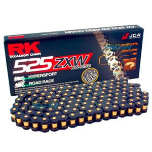 RK 525 ZXW 블랙 스케일 체인, 120 링크, 525 사이즈 - 오토바이 금장 체인 RK525ZXWBL-120