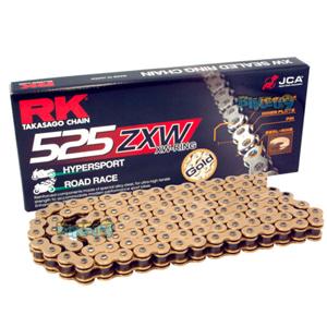 RK 525 ZXW 골드 & 골드 체인, 120 링크, 525 사이즈 - 오토바이 금장 체인 RK525ZXWGG-120