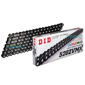 DID 520 ZVMX 블랙- 레이븐 체인, 120 링크, 520 사이즈 - 오토바이 금장 체인 ZVMX120BB120