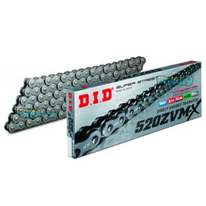 ID 520 ZVMX 스틸 & 스틸 체인, 120 링크, 520 사이즈 - 오토바이 금장 체인 ZVMX120ST120