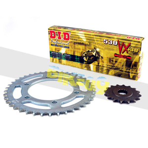 DID BMW F800GS 09-18/F800GS 어드벤처/F700GS (Sprocket Holes Ø 10,5)/525VX, (Gold&Black) Chain Links 116, Rear 42T, Front 16T 체인 116링크, 체인 앞/뒤 (16T/42T) 키트 대소기어체인세트