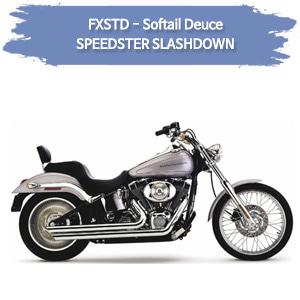 (00-06) 슬래쉬다운 SPEEDSTER 소프테일 듀스 풀시스템 할리 머플러 코브라