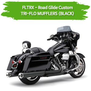 (11-13,15-16) TRI-FLO (BLACK) 슬립온 할리 머플러 코브라 베거스 로드 글라이드 커스텀