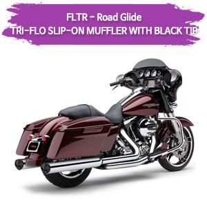(98-09) (BLACK TIP) TRI-FLO MUFFLER 슬립온 할리 머플러 코브라 베거스 로드 글라이드